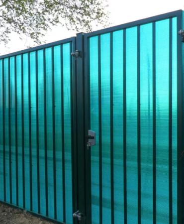 Ворота распашные поликарбонат