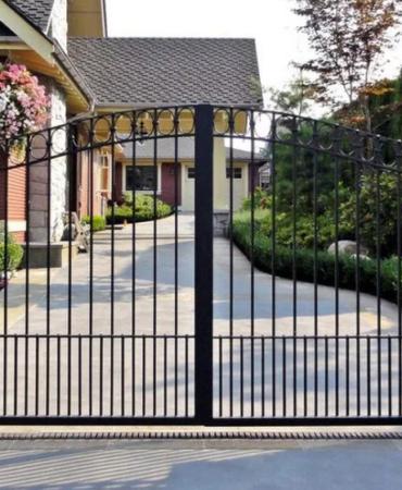 Ворота распашные решетка