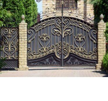 кованые откатные ворота цена