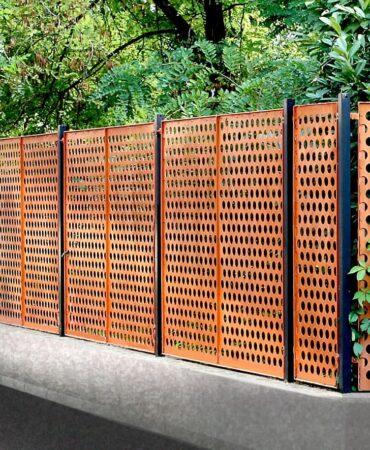 Перфорированный забор